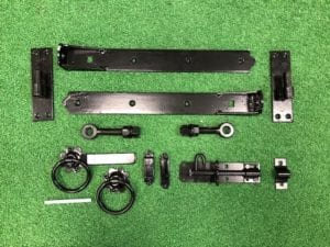 Black On Galvanised 450mm Adjustable Hinge Kit