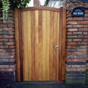 Iroko Hardwood Side Gate - Lymm Style