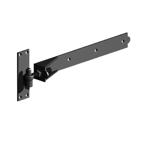 Adjustable Hook and Band Hinges premium black
