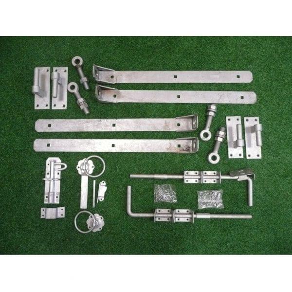Adjustable double gate hinge kit galvanised