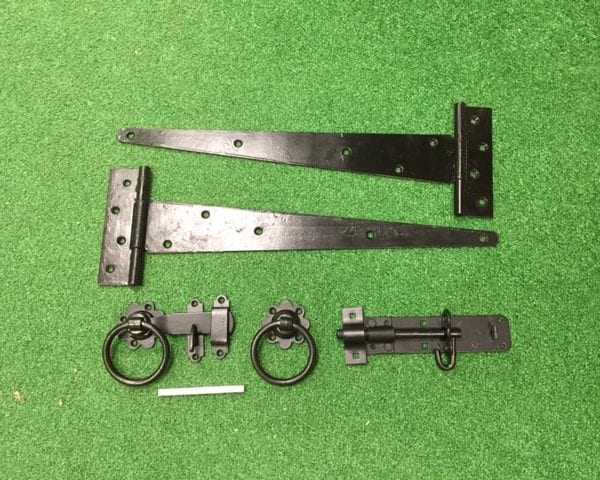 Black on galvanised tee hinge kit
