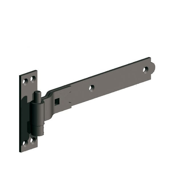 Cranked Hook and Band Hinges premium black