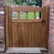 Idigbo Hardwood Garden Gate Lancashire Design