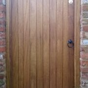 Idigbo hardwood with medium oak stain