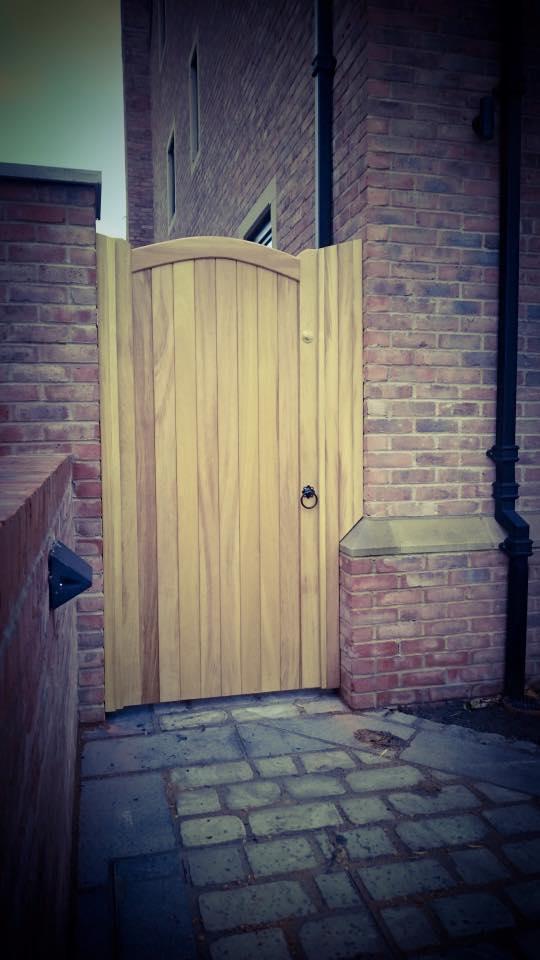 Iroko Hardwood Side Gate – Lymm Design