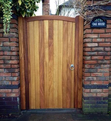 Iroko Hardwood Side Gate