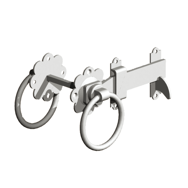 Ring Gate Latch Galvanised