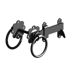 Ring Gate Latch Premium Black
