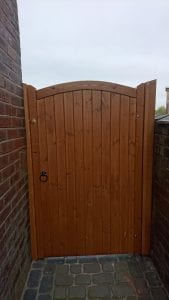 Softwood Lymm Design Side Gate in Teak