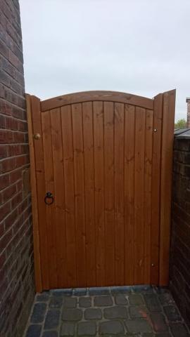 Softwood Lymm Design Side Gate in Teak