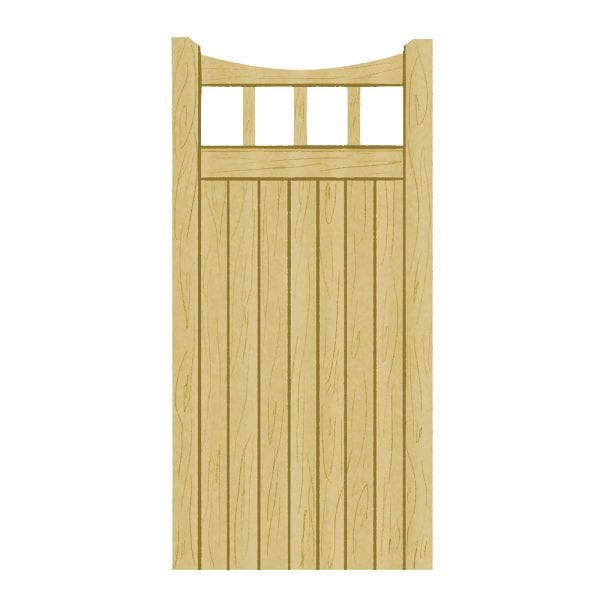 Scandinavian Redwood Gates