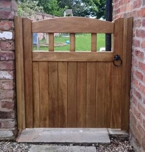 Idigbo Hardwood Garden Gate